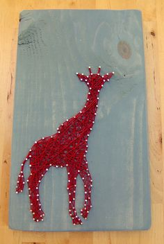 Modern String Art Wooden Tablet Giraffe by NineRed on Etsy, $32.00 Abe