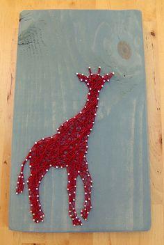 Modern String Art Wooden Tablet Giraffe by NineRed on Etsy, $32.00 Abe