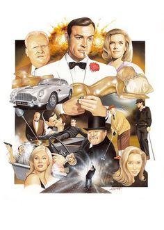 James Bond artwork...'Goldfinger'