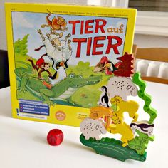 Today I'd like to introduce you to one of the most accessible (and possibly funniest) game we have in our collection. Animal upon Animal (Tier auf Tier in German) is published by HABA, a comp… Board Game Pieces, Board Games, Funny Games, Games For Kids, Yoshi, How To Introduce Yourself, Animals, Art, Fine Motor