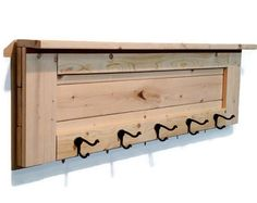 Capa de pared Coat Rack Perchero ganchos por RenewedDecorStorage