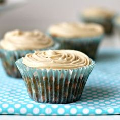 Milk and Honey: Vanilla Cupcakes with Lemon Curd Frosting