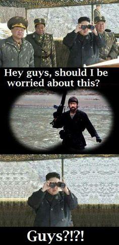 Kim Jong Un vs Chuck Norris - Things just got real!