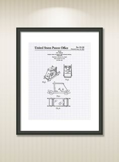This reproduction was digitally restored and in some cases altered to remove defects or unwanted artifacts present in the original #patent document.  Buy more and save! Buy ... #patentart #art #print #gift #digital #download #instant #printable #vintage #game #toy