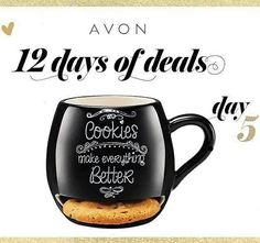 12 DAYS OF DEALS ALERT! Day 5  Celebrate International Cookie Day 🍪! Get a Milk & Cookie Lover Mug #FREE with $45 purchase; #couponcode: COOKIE! Expires midnight 12/4/16 www.youravon.com/atodd  #12DaysOfDeals    #Avon #freewithpurchase #skincare #makeup #mascara #wideawake #lipliner #glimmersticks #truecolor #eyeshadow #eyeliner #beyondcolor #lipstick #beYOUtiful #fashion #bathandbody #beauty #costmetics #style #beautyproducts #sale #freeshipping #Christmas #shopping