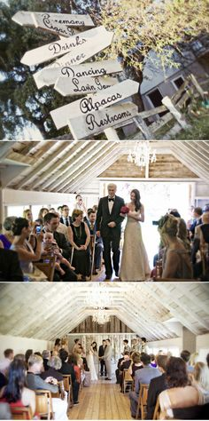 Wedding signs--make your own with a Cricut font and vinyl!