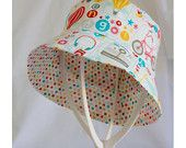 """""""All Girl White & Confetti Multi"""" Children's Hat (Bucket style) A$20.00 (includes post to Australian addresses - international postage additional)"""