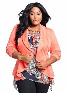 Ashley Stewart Women's Ponte Cascade Blazer for only $34.99 You save: $14.51 (29%) + Free Shipping