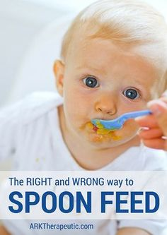 Did you know that there is a right and wrong way to spoon feed? Check out this before and after video, it makes a big difference!