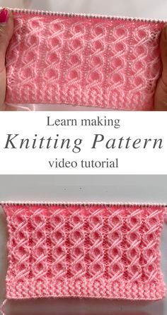 Learn how to work this easy knit pattern by watching this free video tutorial! Keep reading for tips on how to master the technique of making this tight pattern. HOW DO YOU MASTER THIS EASY KNIT PATTE Knitting Stiches, Easy Knitting Patterns, Knitting Designs, Free Knitting, Knitting Projects, Crochet Stitches, Baby Knitting, Crochet Patterns, Knitting Tutorials