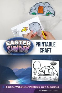 Easter Bible Craft: The Empty Tomb Creation Bible Crafts, Bible Story Crafts, Bible Crafts For Kids, Bible Study For Kids, Preschool Bible Activities, Easter Activities For Kids, Easter Jesus Crafts, Jesus Easter, Easter Story For Kids
