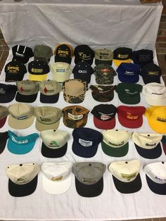 53748becc25469 Vintage Snapback Trucker Farmer Seeds Feeds and Fertilizer Hats LOT OF 40  #fashion #clothing