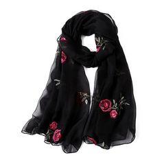 hot 2018 new brand women scarf spring summer silk scarves shawls and wraps lady pashmina beach stoles hijab foulard - Muslim Shops - High Quality Islamic Clothing Burgundy Scarf, Gold Scarf, Cute Scarfs, Leopard Scarf, Chiffon Scarf, Floral Scarf, Shawls And Wraps, Silk Scarves, Womens Scarves