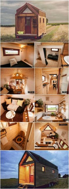 Baluchon's Incredibly Cozy Tiny House Features a Warm and Rustic Color Scheme Tiny House Blog, Tiny House Living, Tiny House Plans, Tiny House Design, Tiny House On Wheels, Tiny House Trailer, Rustic Color Schemes, Rustic Colors, Small House Decorating