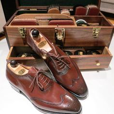 Ascot Shoes — This gentleman first pair of Vass and he's...