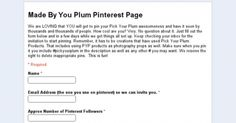 Do you LOVE finding new Pinterest ideas? We do. How about NEW IDEAS using your Pick Your Plum products? We've put a board together just for that- a place you can go pin your Pick Your Plum products and how you are using them. Thousands will see your pins, WE want to see your plum picks! Go here to check out the rules and guidelines and get your special invitation so YOU can start PINNING and be INSPIRED by others!--->http://bit.ly/1iovkOJ
