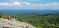 Beacon Heights on the Blue Ridge Parkway :  Beacon Heights is a short one-mile roundtrip hike at Milepost 305.2 on the Blue Ridge Parkway in North Carolina with a big pay-off with spectacular views from several rock platforms to explore safely.