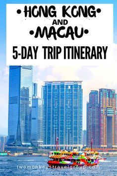 Hong Kong and Macau 5-day Trip Itinerary.     For more great pins go to @KaseyBelleFox