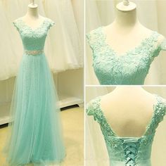 Lace prom dress,long prom dress ,Elegant Women dress,Party dress,beaidng dress by prom dresses, $151.00 USD