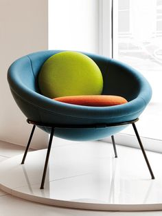 Arper interprets the #design of Lina Bo Bardi's Bowl Chair #colour