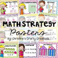 21 Math Strategy PostersDifferent strategies include:-Use your fingers-Use Tally Marks-Use a hundreds board-Use Sticks-Use…