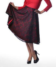 Look at this #zulilyfind! Black Thrills Skirt - Women & Plus #zulilyfinds