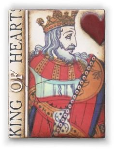 Sid Dickens Memory Block Tile The KING of Hearts T 158 Retired Excellent !