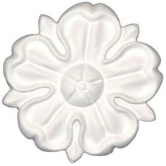 American Pro Decor 1/2 in. x 2-1/2 in. x 1/2 in. Floral Polyurethane Rosette 5APD10156 at The Home Depot - Mobile