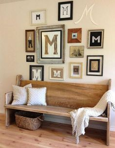 Custom Pew and Shelf with Hooks for Mindy