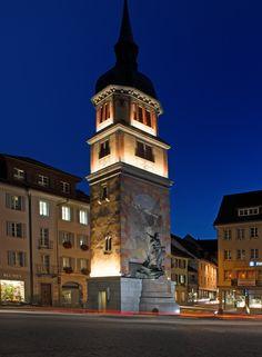 Monument to William Tell, Switzerland - Photo: Günter Laznia – Lighting…
