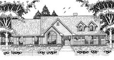 Country House Plan with 2020 Square Feet and 4 Bedrooms from Dream Home Source | House Plan Code DHSW46480