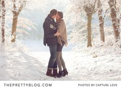 "Perhaps it is because we do not often get to see real snow here in South Africa, but there is something very mystical and yet so utterly romantic about this white powdery setting that gets us feverishly excited when looking at the ""love shoot'' of Diederik and Vera. The couple braved the cold for the perfect picture in the small town of Bunschoten-Spakenburg in the Netherlands. Without needing to elaborate any further, Capture Love's images illustrated the day beautifully."