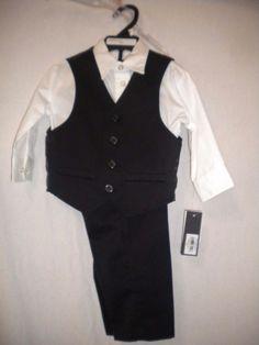 Kenneth Cole Reaction Boys Size 18 Months 3 Piece Suit Pants, Vest & Shirt…