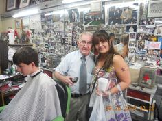 "Met the ""real"" Floyd the Barber from Mount Airy...the model for Floyd from the Andy Griffith Show!"
