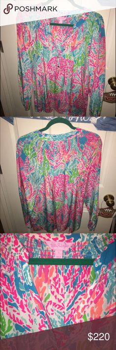 Let's Cha Cha Elsa perfect condition Perfect condition! Cheaper 🅿️🅿️ Lilly Pulitzer Tops Blouses