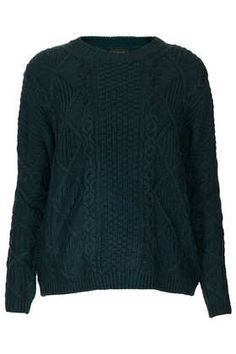 Knitted Angora Cable Jumper | Topshop