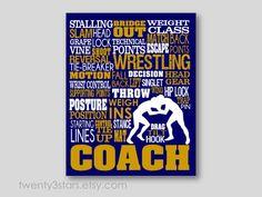 Wrestling Typography Art Print Perfect for Boys by twenty3stars