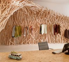Wood cave   Tony Yang via Simone Ferkul onto Architecture and Design