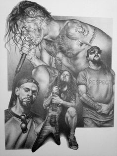 Pantera Original Sketch Prints - Poster Size - Black & White - Print of Highly-Detailed, Handmade Drawing By Artist Mike Duran   http://citymoonart.com/pantera-original-sketch-prints-poster-size-black-white-print-of-highly-detailed-handmade-drawing-by-artist-mike-duran/