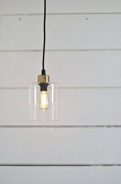 Hanging lamp brass/glass #lagerhaus #2014