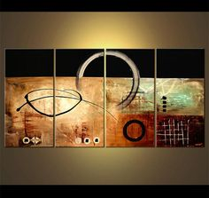 Modern Abstract Painting Original Art on Canvas by by OsnatFineArt, $899.00