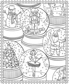 christmasscapes 9780486471952 amazoncom pinterest holidays books and adult - Free Christmas Coloring Pages For Adults