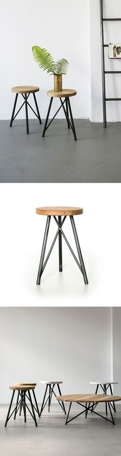 NUTSANDWOODS – Steel Stool