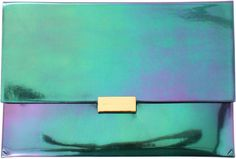 Stella Mccartney Holographic Pouch in Green (VIOLET) - Lyst