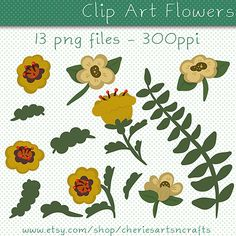 Clip Art Flowers Fall Floral Clip Art Fall by CheriesArtsnCrafts, $2.75