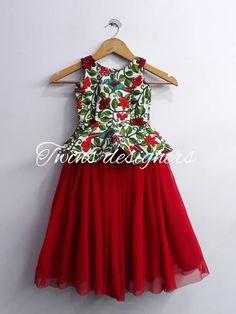 Girls Frock Design, Kids Frocks Design, Baby Frocks Designs, Baby Girl Dresses Fancy, Baby Girl Birthday Dress, Girls Dresses, Cotton Frocks For Girls, Baby Girl Frocks, Frock Patterns