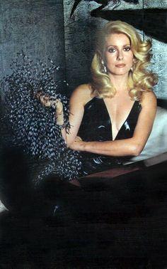 catherine deneurve by Guy Bourdin, Paris Vogue September 1973