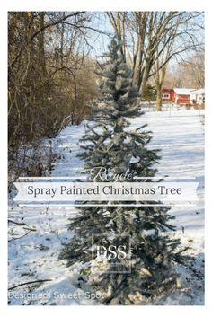 Spray Painted Christmas Tree|Designers Sweet Spot|www.designerssweetspot.com