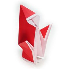 How to make a simple origami Santa Claus II (http://www.origami-make.org/origami-santa-claus-simple2.php)