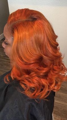 20 Hottest Red Hair with Blonde Highlights for 2019 - Style My Hairs Hair Color For Women, Hair Color For Black Hair, Red Hair, Black Girl Hair Colors, Dyed Natural Hair, Natural Hair Styles, Curly Hair Styles, Winter Hairstyles, Weave Hairstyles